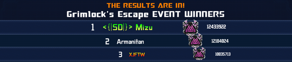 Event Grimlocks Escape Solo Winner