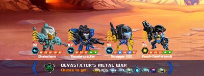T devastators metal war xx scrapper x