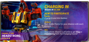 Ui event pre charging in d