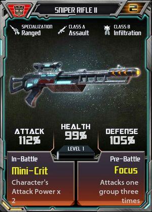 Sniper Rifle II Autobot