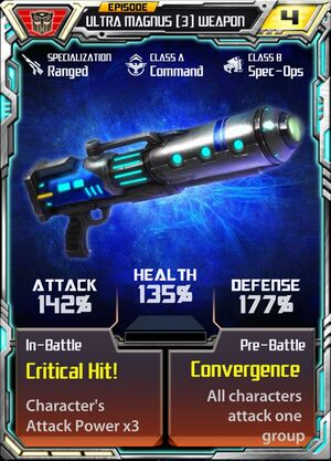 Ultra Magnus (3) Weapon