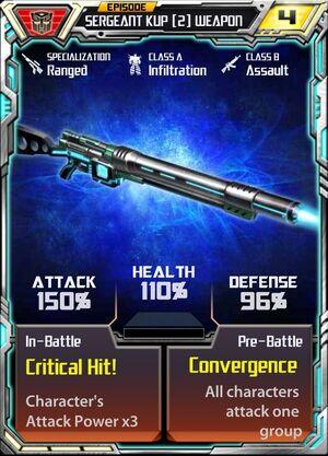 Sergeant Kup (2) Weapon