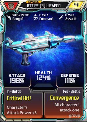 Jetfire (3) Weapon