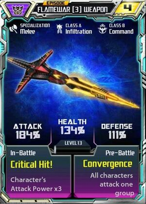 Flamewar (3) Weapon