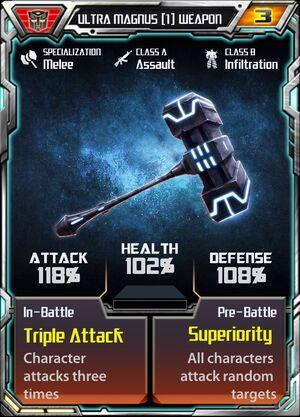 Ultra Magnus (1) Weapon
