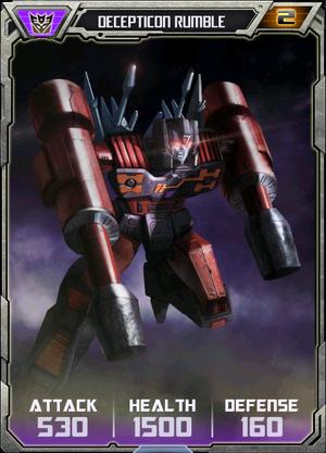 Decepticon Rumble Robot
