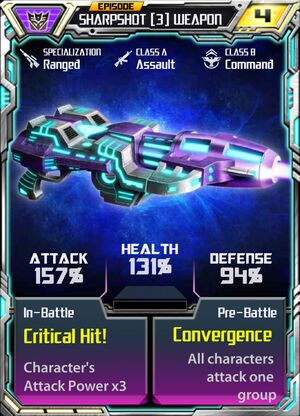 Sharpshot 3 Weapon