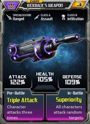 Kickbacks Weapon Event