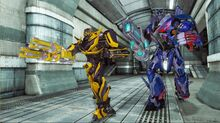 Bumblebee and Optimus - Rise of the Dark Spark