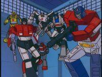 G1 cartoon Autobots fly