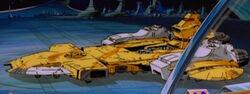 Autobot shuttle parked