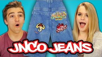 TEENS REACT TO 90s FASHION - JNCO JEANS