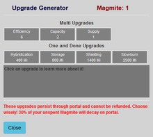 Upgrade panel