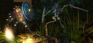 Armored skelly fights