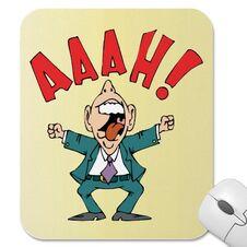Funny cartoon male man aaah stress mousepad-p144993101665810189z8xsj 400