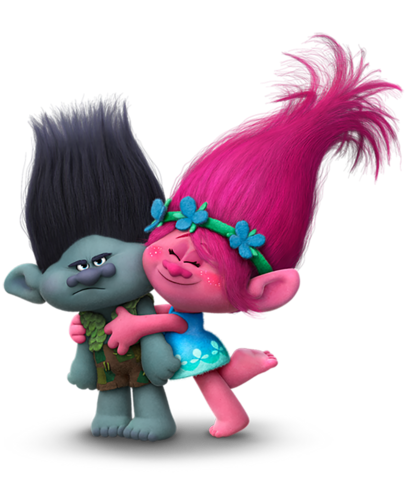 File:Dreamworks Trolls - Princess Poppy hugging Branch.png