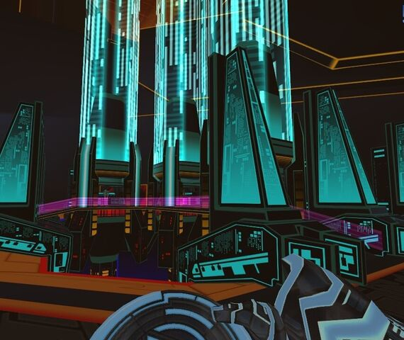 File:TRON Wiki - 49433-tron-2-0-windows-screenshot-spires-of-the-internet 1.jpg
