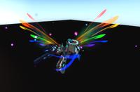 Radical Rainbow Wings ingame