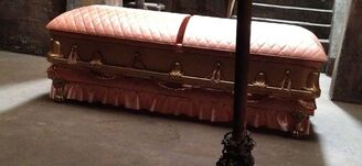 Pam's coffin in Fangtasia