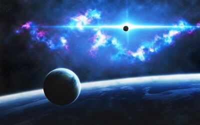 Baby Ice-Blue-Outer-Space-Planets-Earth