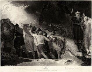 761px-George Romney - William Shakespeare - The Tempest Act I, Scene 1 (1)