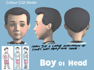 Boy 01 Colour CGI Model Head