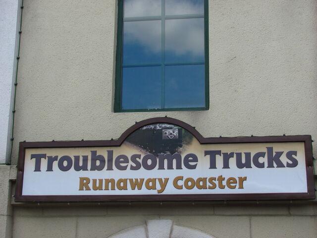 File:TroublesomeTrucksRunawayCoasterSign.jpg