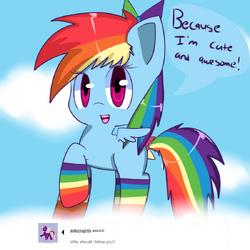 Rainbow Dash in Socks-Cuteandawesome