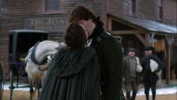 Anna Strong kisses John Graves Simcoe