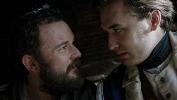 Benjamin Tallmadge and Caleb Brewster discuss John Grave Simcoe's fate