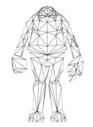 Turok Rage Wars Character Wireframe Blnid One Guardian