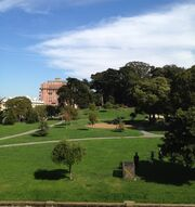 Lafayette Park, San Francisco, from the park's western edge-1-