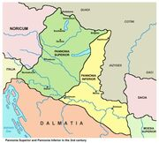 Map of Pannonia