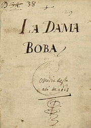 La dama boba cover (signed by Lope)