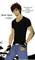 Jacob Black by twilight in darkness