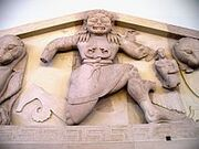 210px-Close up of Gorgon at the pediment of Artemis temple in Corfu