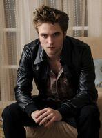 Robert Pattinson in leather