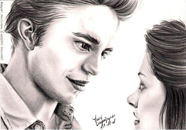 File:R Pattinson et K Stewart by crayon2papier.jpg