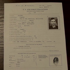 Douglas Milford's USAF enlistment