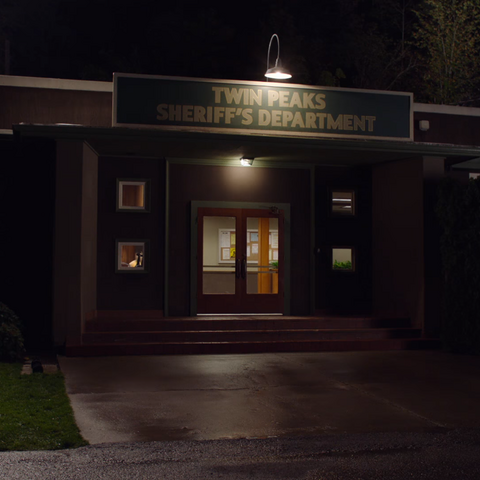 The Sheriff's station as it appears in the April 28, 2017 teaser