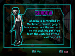 Twisted Metal - Small Brawl - Shadow bio