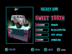Twisted Metal - Small Brawl - Sweet Tooth carsel