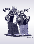 Matt and Woolie sparrowmittens