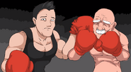 Punch Out! Little Mac and Glass Joe