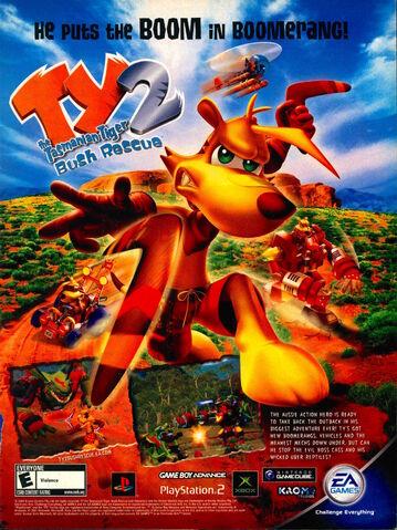 File:Ty tasmanian tiger 2 bush rescue Nickelodeon Magazine Advertisement October 2004.jpg