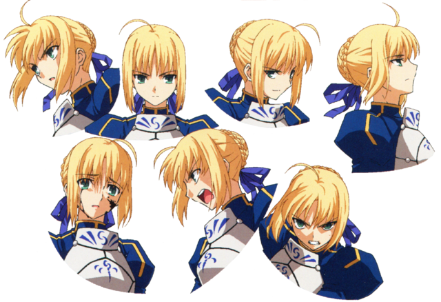 File:Saber ufotable Fate Zero Character Sheet2.png