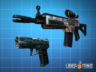 SIG 552 Camo and USP.45 Tactical Camo