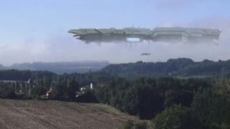 GIANT UFO MOTHERSHIP CAPTURED OVER A VILLAGE IN FRANCE 2013