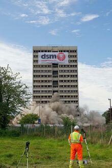 Nechells. Normansell Tower, Holte Estate, Aston 2012 Demolition.