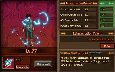 Reincarnation One Maito Gai